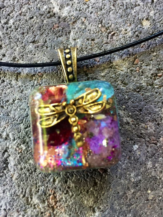 Dragonfly Orgonite® Charm- Fairy Magic Orgone Energy Generator for Innocence, Trust and Love Acceptance- Spirit World Orgonite® Necklace