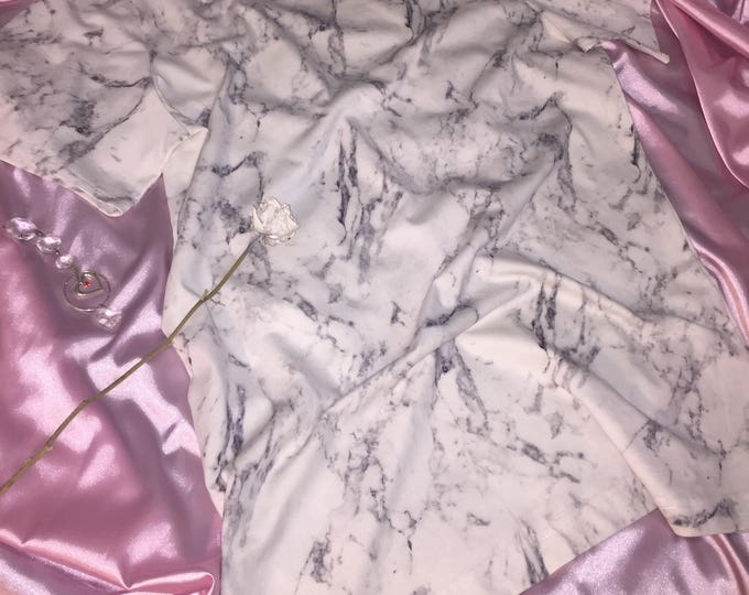 CARBON minimalist white marble T-shirt