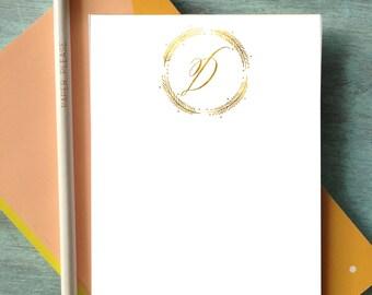 1 Custom Gold Monogram Note Pad