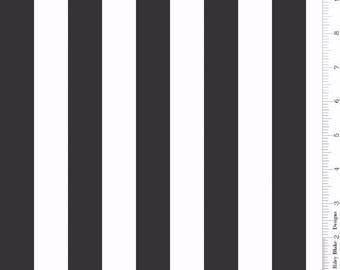 One Inch Stripe Black: Riley Blake Designs 1 Yard Cut