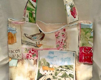 Shopping Bag, Market Bag, Cotton Canvas Shopping Bag, Grocery Bag, Eco Bag, Reusable Bag