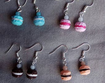 Earrings gourmet Mini macaroon