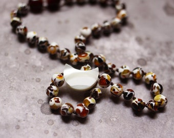 Moonstone Baltic Amber Teething Necklace