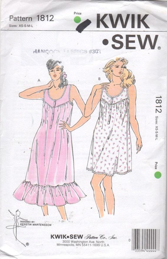 Kwik Sew 1812 1980s Misses Easy Breezy Summer U Neckline