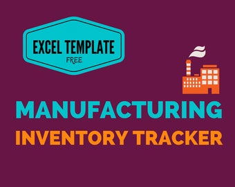 Manufacturing Inventory Tracker Excel Template