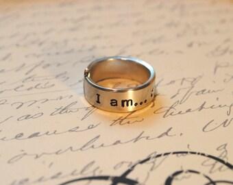 Affirmation Cuff Ring I am Enough