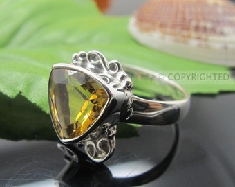 Citrine Ring, 925 Sterling Silver Ring, Gemstone Rings, Crystal Rings, Healing Rings