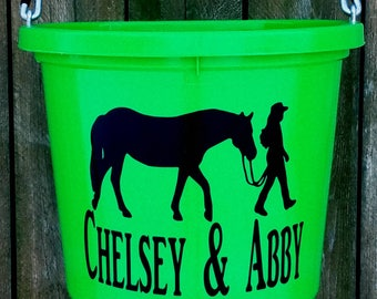 Horse tack custom equine personalized horse buckets equestrian gifts horse lover gifts cowgirls custom buckets reining cow horse personalized horse tack stall signs barns negle Gallery