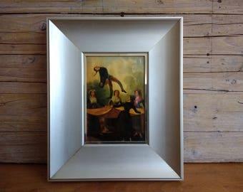 FRANCISCO DE GOYA - Enamel picture framed, metalic frame