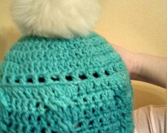 Made to Order Custom Cables Pom-Pom Hat 3 Sizes All Colors