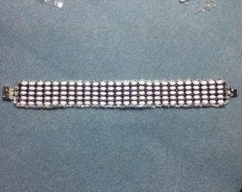 Design sheet for super duo ladder stitch bracelet