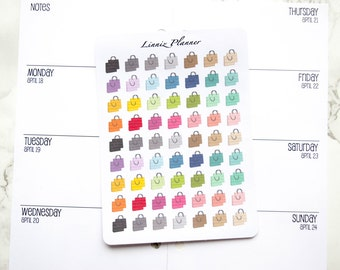 Mini Shopping Bag (matte planner stickers, perfect for planners)