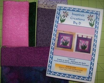 CALLA-Art Quilt-Muster-Kit