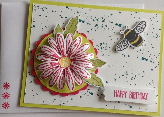 Daisy Delight Happy Birthday Card Handmade Stampin Up