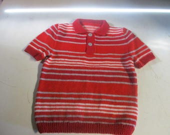 Manually knitted kids shirt
