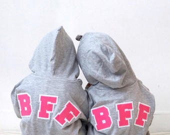 Kids Valentine Day, BFF Hoodie, Best Friends Forever Sweatshirt, Big Sister Gift, Gift Mature, Sibling Shirt, Girl Power, Sisterhood