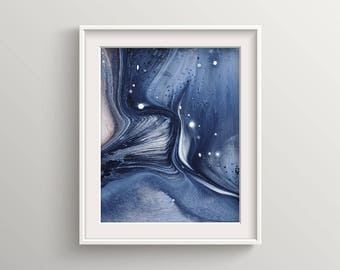 Abstract, Marble, art, print, home decor, gift, Blue art, Blue marble art, blue abstract art, nature, abstract wall art, marble home decor