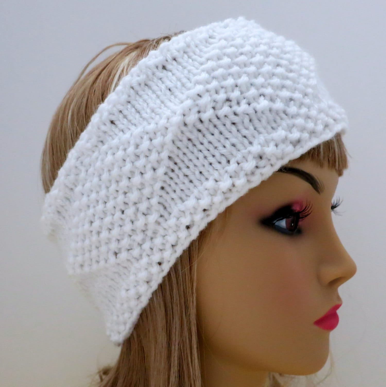 PDF 129 Pattern Headband Knit Diamonds Knitting Pattern PDF Headband ...