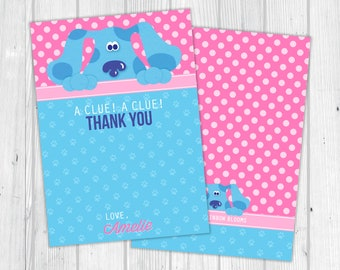 Blue's Clues Thank You Card