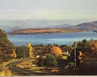 Vintage N H Postcard Lake Winnipesaukee New Hampshire Largest Lake