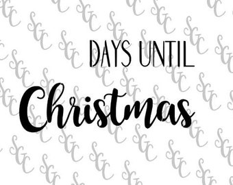 Reusable Stencil - Christmas Countdown - Many Sizes to Choose from!