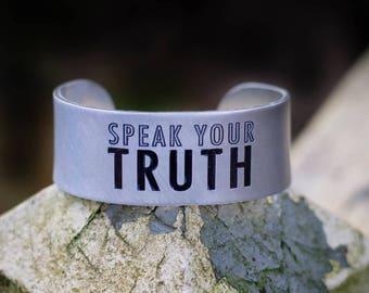 Speak Your Truth Engraved Bracelet Cuff