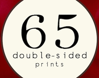 65 PRINTS - DOUBLE SIDED Printed Invitations Cards - 91892194
