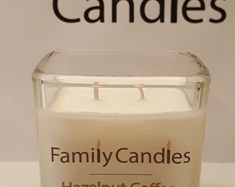 Family Candles - Hazelnut Coffee 7.5 oz Double Wicked Soy Candle