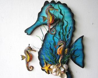 Seahorse art wall sculpture