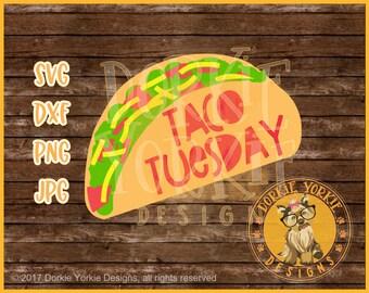 Taco Tuesday - svg, dxf, png, jpg -  Cricut, Studio Cutable file