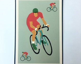 Cycling print A4