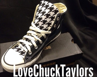 Houndstooth Converse Chuck Taylor Shoes Rockabilly