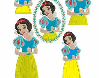 Snow White - Princess Disney : Machine embroidery design