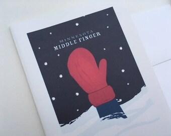 Minnesota Middle Finger Card