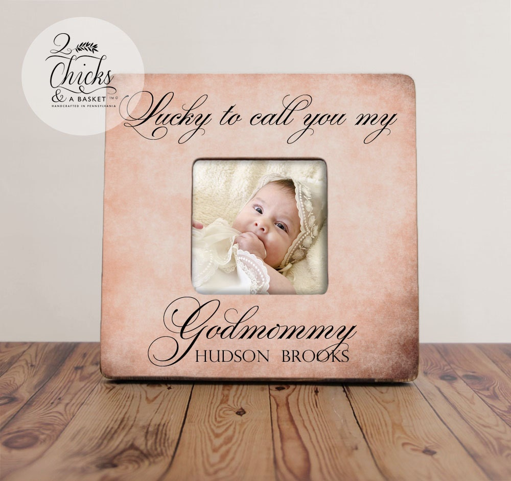 Godmother Gift Personalized Baptism Picture Frame Godparent