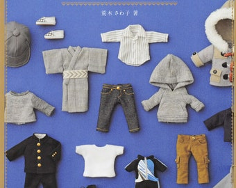 Doll Clothes Pattern Obitsu Boy Doll Clothes Pattern PDF DOWNLOAD Sewing Pattern - Japanese craft book ebook,11cm Obitsu Body Doll Clothes
