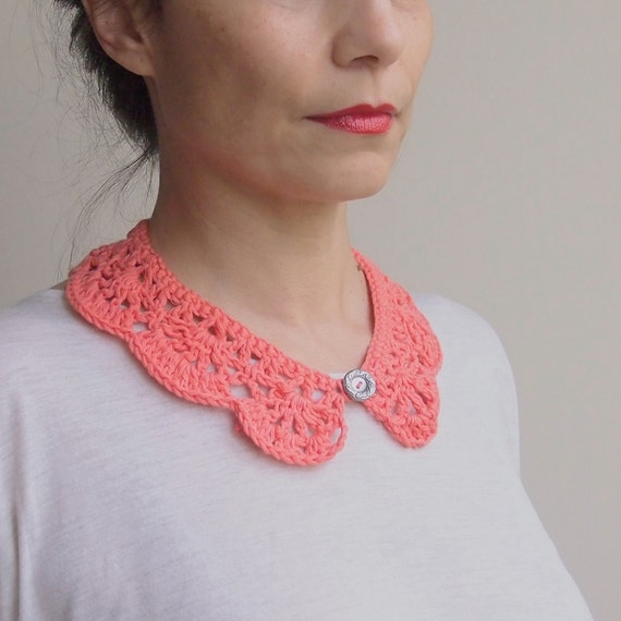 Crochet pattern woman collar peter pan girl collar crochet cowl crochet pattern woman collar peter pan girl collar crochet cowl vintage lace diy photo tutorial instant download from anaddesign on etsy studio dt1010fo