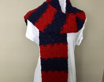 Men's Crochet Scarf, Woman's Crochet Scarf, Crochet Neck Warmer, Chunky Crochet Scarf, Striped Scarf, Gift for Him, Gift for Her,