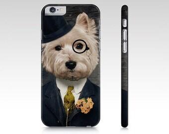 iphone 7 Plus 8 6 case Samsung Galaxy S5 Case Westie Dog Westie Art Cellphone Case Gear West Highland Terrier Pet Portrait - Sir Bunty