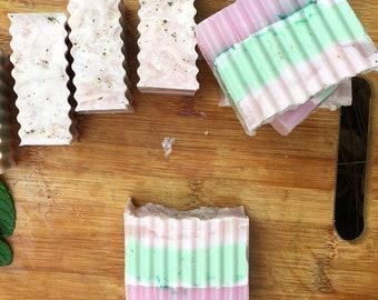 Grapefruit and Rosemary BIG Soap Bar | handmade soap, essential oil soap, vegan soap, organic soap, artisan soap, all natural soap, for her