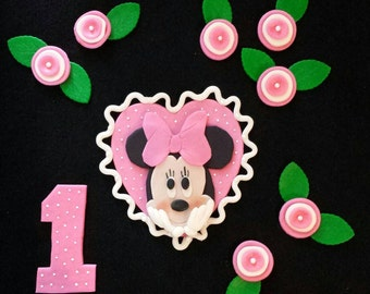 Minnie Mouse set with Flowers