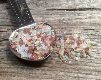 Tourmaline and Opal Chips, raw rough gemstone pieces