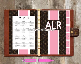 Personalized Monogram Calendar/Divider 12 MonthTab Set for your Louis Vuitton Agenda gm mm pm... Choose your colors! Planner Dashboards