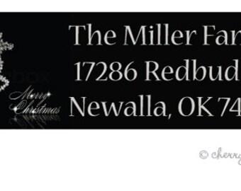 Glammer silver address labels - set of 75