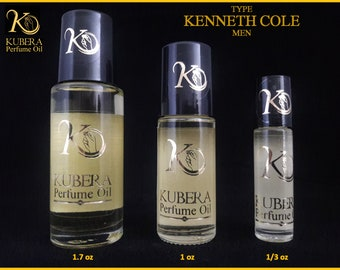 Type Kenneth Cole perfume in oil for men 1/3oz 1oz 1.7oz