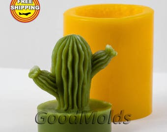 Cactus 3 3D mold soap mold silicone molds mold for soap mold  silicone mold free shipping