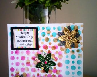 Mothers Day Card Handmade for grandmother.