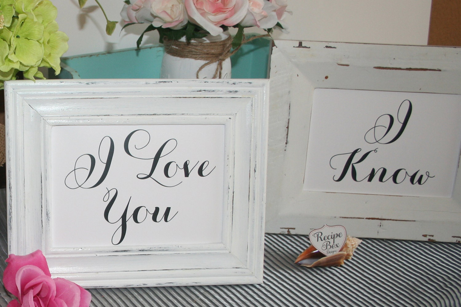 Wedding Signs I Love You, I Know, Bride and Groom Chair Signs ...