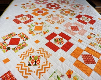 Twin quilt for sale, handmade patchwork quilt