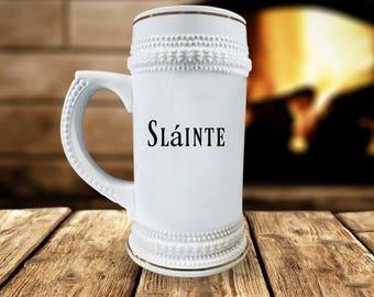 Sláinte Beer Stein
